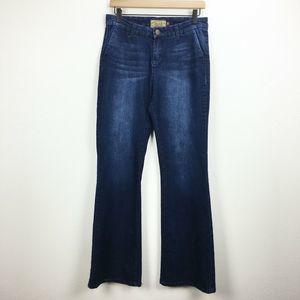 Dear John Dark Wash Flare Jeans Size 29 Trouser